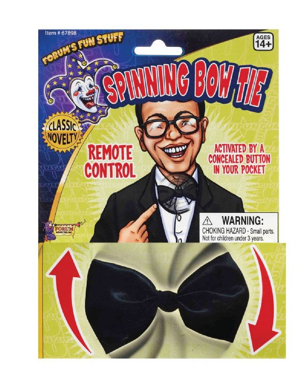 Joke Spinning Bow Tie Novelty Gag Trick Party Favor Favour